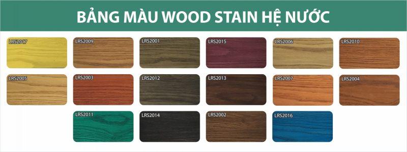 Bảng màu sơn tạo màu gỗ Wood Stain