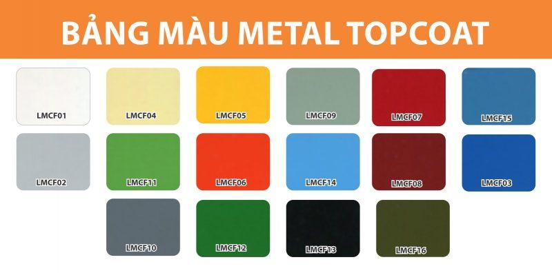 Bảng màu sơn kim loại đa năng Metal Coat 2 in 1