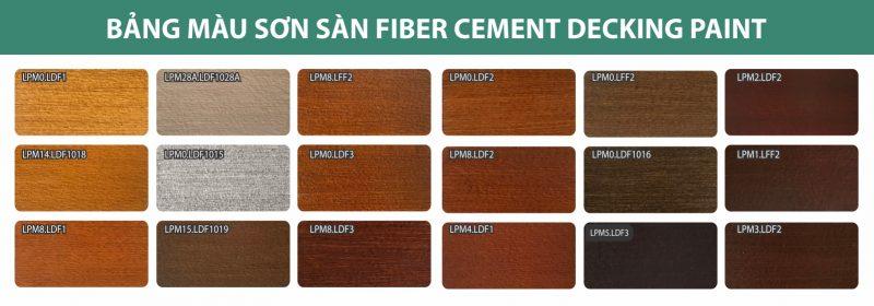 Bảng màu sơn sàn fiber cement giả gỗ Decking Paint