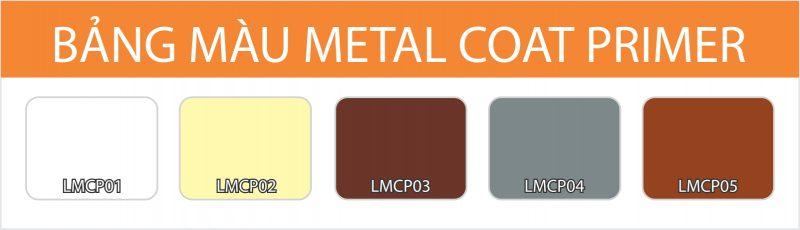 Bảng màu sơn lót kim loại Metal Coat Primer