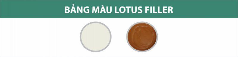 Bảng màu keo trám trét lỗ đinh và xử lý khiếm khuyết Lotus Filler