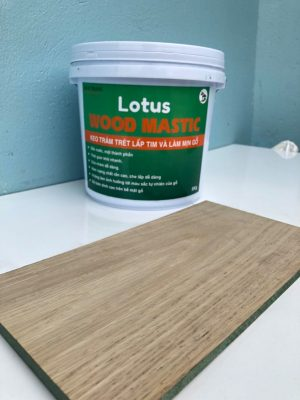 Sử dụng bột trét gỗ Wood mastic Lotus lấp tim gỗ